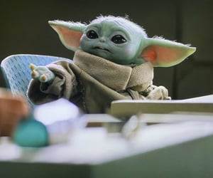 the child, baby yoda, and cute image
