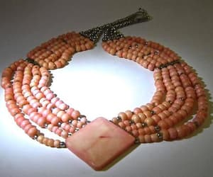 etsy, pink coral, and pink necklace image