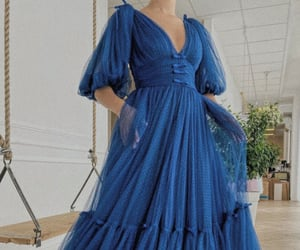aesthetic, ball gown, and blue aesthetic image