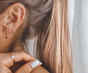 hoops, piercing, and jewelry image