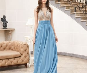 see through dress, formal dresses, and evening dress image