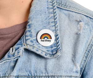 button, pin, and lgbt image