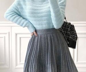asian fashion, korean fashion, and pleated skirt image