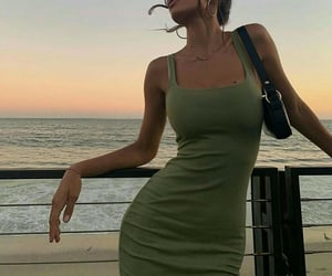 fashion, style, and sunset image