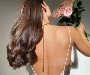 brunette, hair, and rose image
