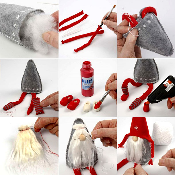 christmas decoration, diy how to do, and scandinavian gnome image