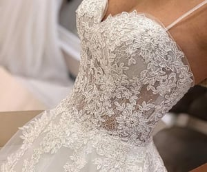 dress, floral, and lace image