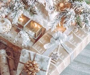 christmas, gift, and tree image