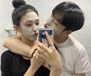 couple, skincare, and wallpaper image