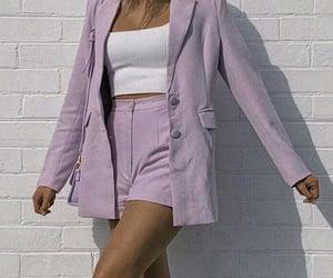 fashion, girl, and lilac image