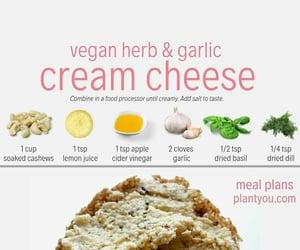 vegan, vegan cheese, and vegan cream cheese image