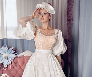 ball gown, bardot, and gown image