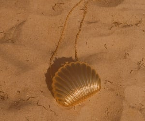 beach, shell, and bag image