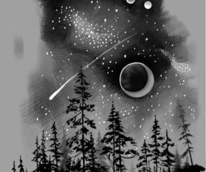 art, fantasy, and planets image