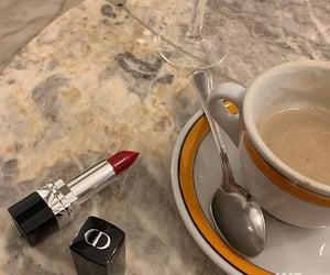 coffee, dior, and lipstick image