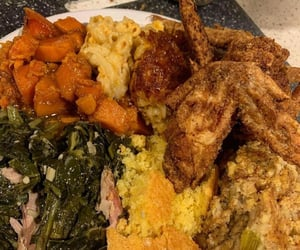 Chicken, cornbread, and dinner image