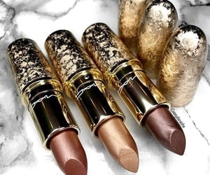 lipstick, mac, and gold image