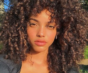 curls, girl, and sun image