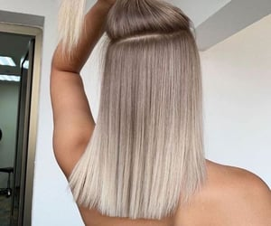 bleach blonde, blonde, and hair image