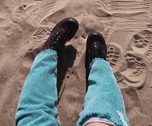 beach, doc martens, and docs image