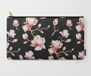 accessories, floral, and pouch image
