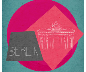 art, berlin, and card image