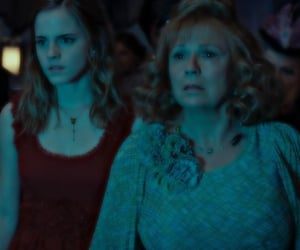 molly weasley, harry potter, and hermione granger image
