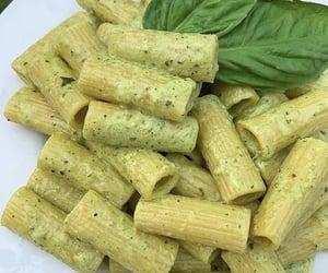 pasta, food, and pesto image