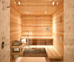 house, luxury, and sauna image