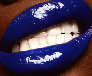 beauty, blue, and glossy image