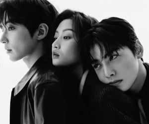 black and white, kpop, and true beauty image