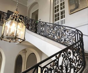 architecture, interior, and chandelier image