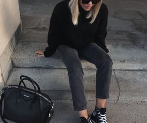 blonde, street style, and sunglasses image