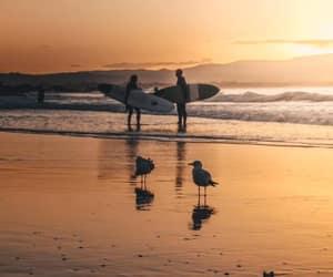 beach orange ocean image