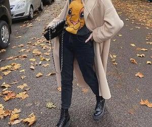 beige, black, and fashion image