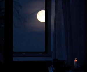 moon, night, and candle image
