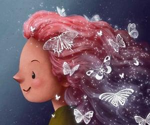 chicas, ilustracion, and Ilustration image