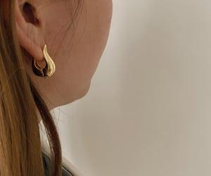 gold, hoop, and huggie earrings image