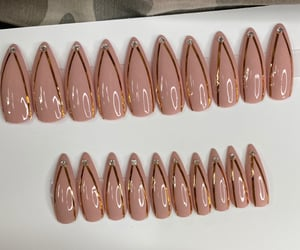 nails, press on, and nude nails image