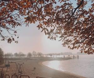 autumn, playground, and sunshine image