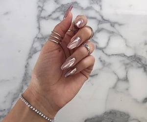 girl, marble, and nails image