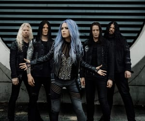 blue hair, melodic death metal, and arch enemy image