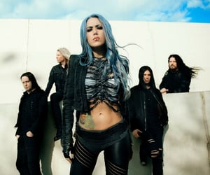 blue hair, michael amott, and melodic death metal image