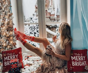 blonde, christmas, and cozy image