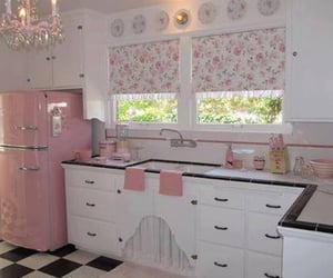 kitchen and pink image