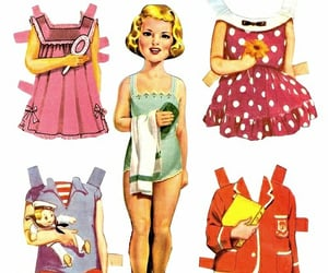 70's, childhood, and paper dolls image