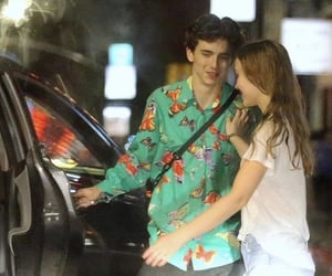 lily rose depp and timothee chalamet image