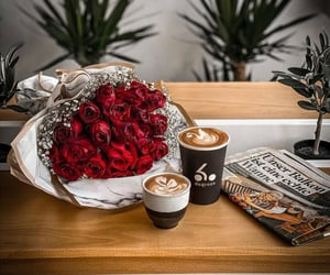 coffee, enjoy, and flowers image