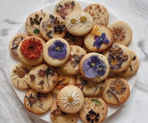 food, flowers, and Cookies image