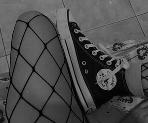 all star, alternative, and black and white image
